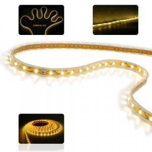Waterproof LED Strip Light - Flexible Warm White Light Ribbon New