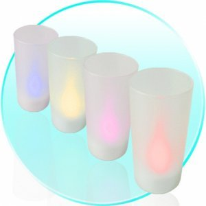Magic Blow On / Blow Off Heatless Electronic Candle Set of 4 New