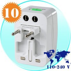Universal Travel Adapter + Surge Protector for International Use x 10 New
