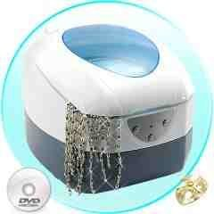 Deluxe Ultrasonic Cleaner Jewelry, Collectible, Discs, More New