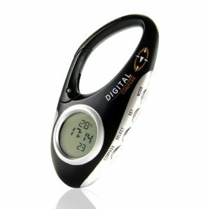 Digital Compass Carabiner with Thermometer and Clock � 3  New