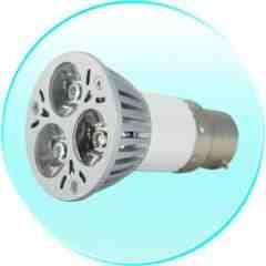 3W White LED Light Bulb with Bayonet Base New