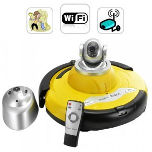 Intelligent Robot Vacuum Cleaner with Wireless IP Camera New