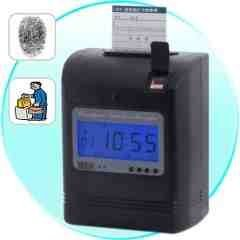 Attendance Time Card Recorder with FingerprintVerification New
