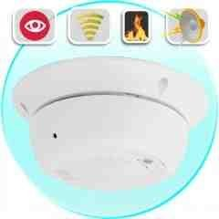 Working Smoke Detector with Hidden Camera New