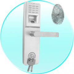 Finger Print + Access Code Dead Bolt Door Lock (Right)New