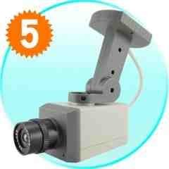 Fake Security Camera with Motion Detector and LED Light New