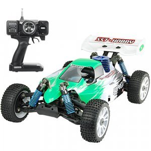 1:8 Scale Nitro Race Car With Pistol Grip Remote Control (220) New