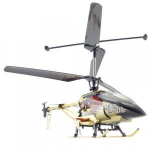 Large Metal RC Helicopter - Bronze Color + LED Lights (110V) New