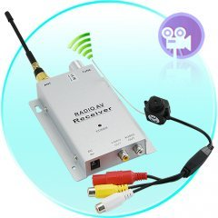 Micro 1.2GHz Wireless Pinhole A/V PAL Camera + Receiver Set  New
