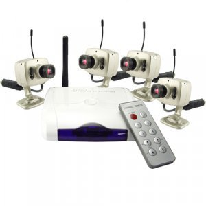 Wireless Surveillance Combo with 4 Cameras (PAL) New