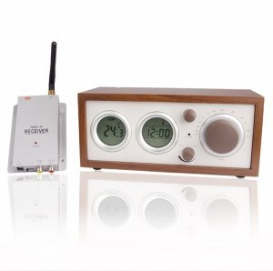 Clock Radio With Hidden Pinhole Color Camera Set New