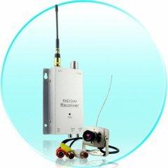 Wireless Amateur Spy Set - Color Audio Camera + A/V Receiver -NT New