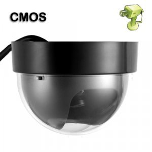 Wired Color CMOS Dome Camera with Adapter (PAL) New