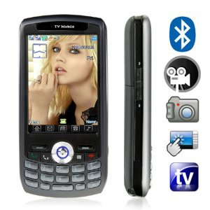 Quad Band Touchscreen Cell Phone - Dual SIM/Dual Standby (Black) New
