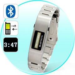 Bluetooth Bracelet w/Vibration Function + Digital Tie Display New