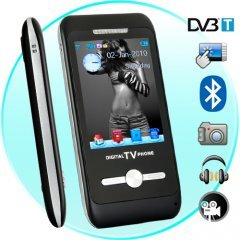 3 Inch Touch Screen DVB-T Multimedia Cellphone with Bluetooth New