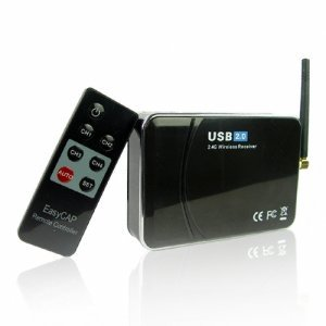 Wireless USB 2.0 Camera Receiver + PC Recording Software New