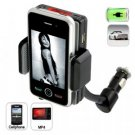 Cellphone and Media Player Car Charger with FM Transmitter