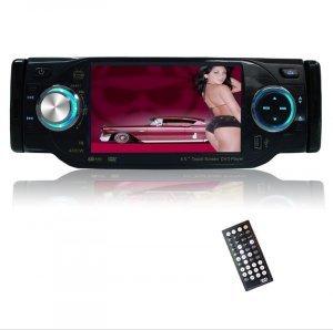1-DIN TV Tuner + Bluetooth Car DVD Player - Plays DivX + MP4 New