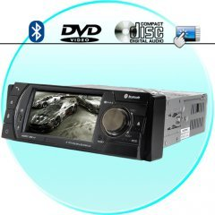Touchscreen Car DVD Media Center with Bluetooth (1-DIN) New