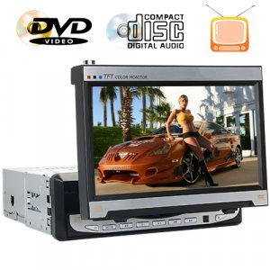 7-Inch in-dash TFT LCD Monitor (16:9) with DVD Player New