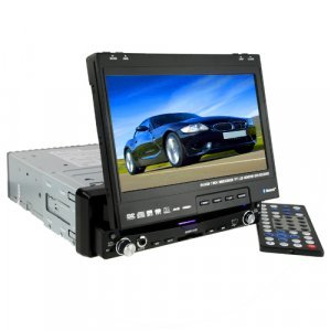 Large 7 Inch Touchscreen Bluetooth GPS Car DVD Player 1-DIN