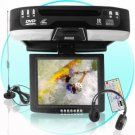 Roof-Mounted 10.4 Inch TFT-LCD Monitor + DVD Player -Black New
