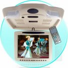 Roof Mount Monitor DVD Player - USB + SD Reader -Tan New