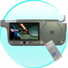 Sun Visor DVD+Game Player (Right Side) - USB + Card Slot -GREY New