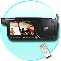 Sun Visor DVD+Game Player (Right Side) - USB + Card Slot -BLACK New
