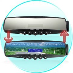 Bluetooth Rearview Mirror with Embedded Mini-LCD New