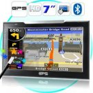 7 Inch Touch Screen GPS Navigator (FM Transmitter, Bluetooth) New