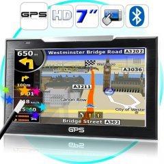 7 Inch Touch Screen GPS Navigator (FM Transmitter, Bluetooth) New