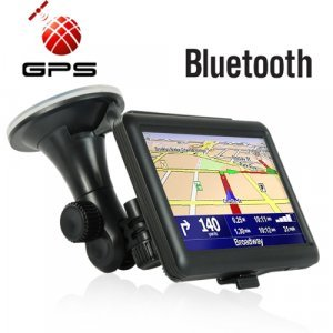 5 Inch Portable Touch Screen GPS Navigator - Bluetooth (Black) New