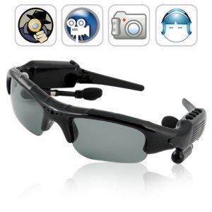 Espionage - Spy Camera Sunglasses (4GB, DVR, Bluetooth, MP3) New