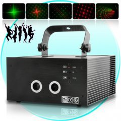 150mW Sound Activated Red and Green Double Laser DMX Projector New
