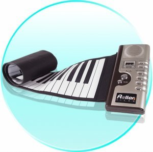 Roll Up Synthesizer Piano with Responsive Keys New