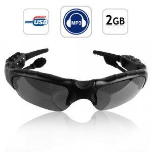 WMA + MP3 Player Sunglasses 2GB - Stereo Sound Effect New