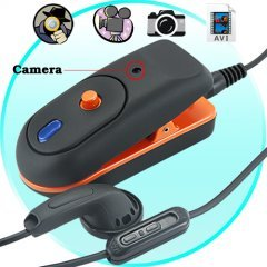Spy DVR and Image Capture Clip On Surveillance Device (4GB) New