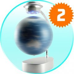Magnetic Levitation Globe with Blue LED Lights New