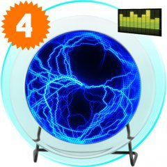 Blue Electric Plasma Plate with Touch and Sound Response (220V) New