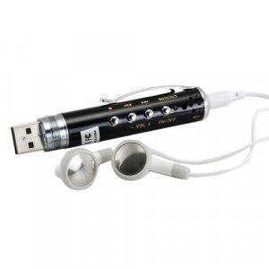 MP3 Gadget Pen + Spy Device - 2GB Flash Disk Design New