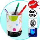 Desk Buddy - USB Hub, Speaker, Pen Holder, Light, Photo Frame