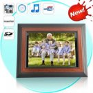 12 Inch Wooden Digital Photo Frame w/ Remote + Media Player