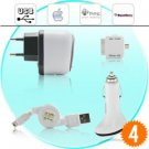 Universal 4 in 1 iPhone USB Adapter and Charger Set