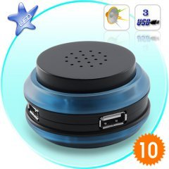 USB Hub and Speaker X 10 New