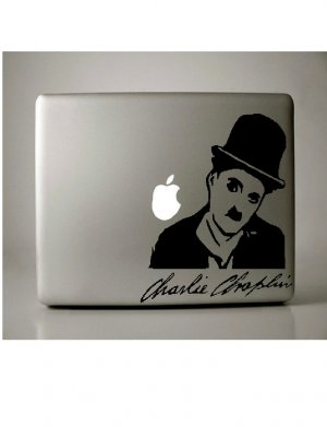 Charle Chaplin MacBook Decal