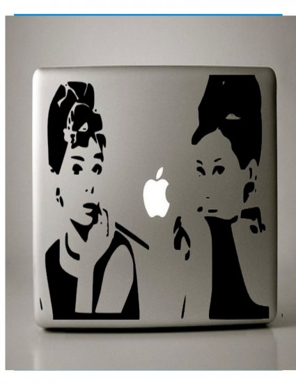 Audrey Hepburn Breakfast at Tiffany's Macbook Decal