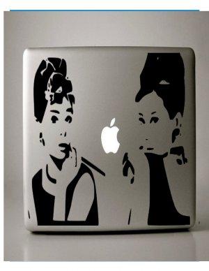 Audrey Hepburn Breakfast at Tiffany's Macbook Decal